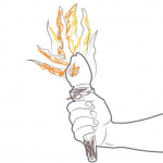 coloring sheet - picture of torch